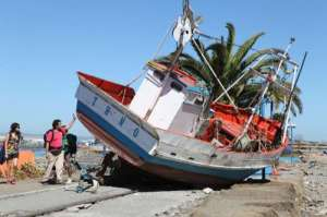 Tsunami Carried Boat