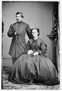 Portrait of Maj. Gen. George B. McClellan, officer of the Federal Army, and his wife, Ellen Mary Marcy