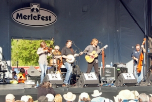 The Waybacks perform on the Americana stage with guest Jens Kruger of The Kruger Brothers on banjo.