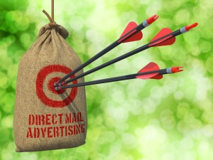 Arrows in a bullseye on a mailbag. © Can Stock Photo Inc. / tashatuvango