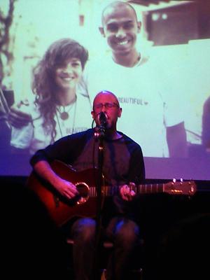 Robbie Schaefer performing on stage at Jammin Java, Jan. 5, 2015.